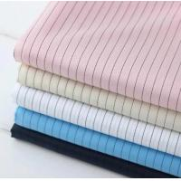 Wholesale Functional ESD Fabric Dust Proof 99% Plyester 1% Conductive Fabric Stripe 5mm from china suppliers
