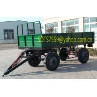 Buy cheap 5Tons four tyres farm trailer from wholesalers