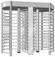 Wholesale Dual Channel Security Turnstile Security Revolving Doors Rust Proof 120 Degree from china suppliers
