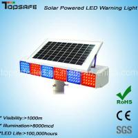 Quality New Design Solar Powered Traffic LED Warning Light for sale
