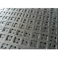Wholesale 11-22 Gauge Square Perforated Sheet Metal Staggered Row Patterns High Strength from china suppliers