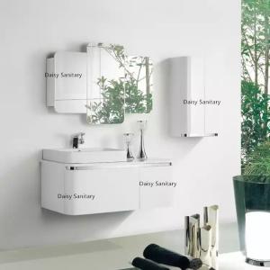 China Fashion Wall Mounted Bathroom Vanity , Modern Bath Vanity With Big Drawer And Door on sale