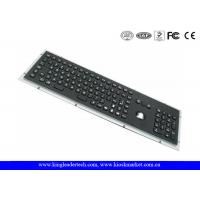 Rugged Panel Mount Black Metal Keyboard With Trackball Function Keys And Number Keypad Manufactures