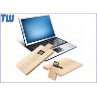 Wholesale Credit Card USB Flash Pen Drive 4GB Capacity Data Storage Wood Material from china suppliers