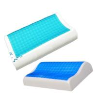Wholesale Contour Gel Memory Foam Pillow For Airplane / Bedding / Bath Washable Velour Cover from china suppliers