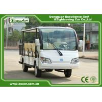 Wholesale EXCAR white 72V 11 Seater Electric Sightseeing Car With Storage Basket from china suppliers