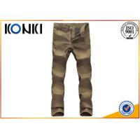 Wholesale Comfortable Mens Custom Pants Anti - Wrinkle With Polyester / Cotton Material from china suppliers