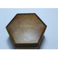 Wholesale Dark Solid Wood Standing Jewelry Box , Gift Wood Hexagon Shaped Box from china suppliers
