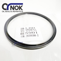 Wholesale 140x153x7 Hydraulic Cylinder Seals Machinery Parts Rubber Dust Seal LBH140 from china suppliers
