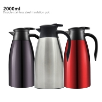 Wholesale Stainless Steel Double Wall 2000ml Vacuum Insulated Teapot from china suppliers