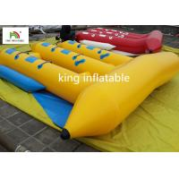 Customized 6 Seater Inflatable Sport Fly Fishing Boats Yellow Durable for sale