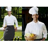 Wholesale Side Open Chef Cook Uniforms White Color Long Sleeve For Men from china suppliers