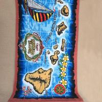 Wholesale OEM Hawaii Design Islands Printed Beach Towels Marine Styles With 10 Colors from china suppliers