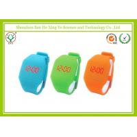 Wholesale Modern Orange Silicone Rubber Wrist Watches With Led / Touch Screen from china suppliers