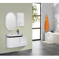 Round type 15mm PVC Material ceramic vanity top with integrated sink 90 X 45 / cm