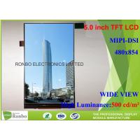 China 5.0 Inch TFT Cell Phone LCD Display 480 * 854 Resolution MIPI Interface on sale