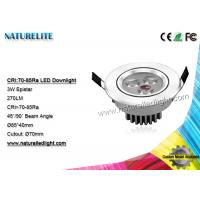 Wholesale 3W LED downlight , Integrated Led Downlights  270 lm Epistar from china suppliers