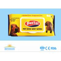 China Antibacterial Pet Disposable Wet Wipes For Dogs / Cat Animals , Eco Friendly on sale