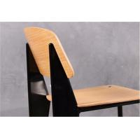 Wholesale Metal Frame Modern Wood Dining Chairs , Armless Dining Room Side Chairs from china suppliers