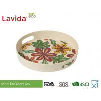 Wholesale Dishwasher Safe Bamboo Fiber Big Round Serving Tray With Christmas Pattern from china suppliers