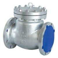 Buy cheap A351 CF8M Flanged Swing Check Valve 300LB ASME B16.10 from wholesalers
