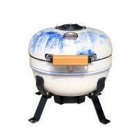 Wholesale Home Popular Tabletop Kamado Grill , Flame Safety Ceramic Charcoal Bbq from china suppliers
