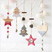 Wholesale New Year Wood craft Christmas Ornaments Pendant Hanging Gifts star heart Xmas Tree Decor  Home party christmas decor from china suppliers
