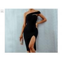 Wholesale One Shoulder Short Mermaid Bridesmaid Dresses Good Layout Sexy Open Slit Elastic from china suppliers