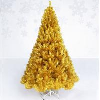 New style indoor golden pvc tinsel christmas tree of item