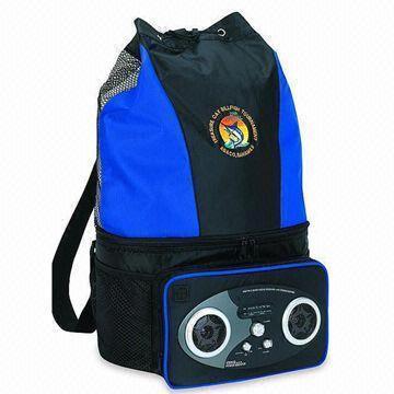 12 pack radio cooler bag with adjustable back straps. Black Bedroom Furniture Sets. Home Design Ideas
