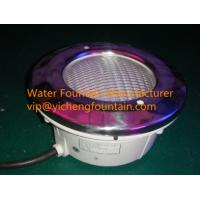 Stainless Steel Cover Underwater Swimming Pool Lights Par56 Bulb With Plastic Niche 106231038