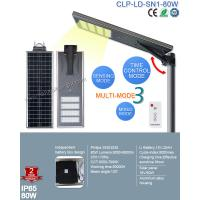 Quality IP65 Bridgelux 80W Solar Led Street Lights With Patent Smart MPPT Controller for sale