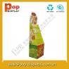 Food Cardboard Display Stands , Grocery Store Display Racks Manufactures