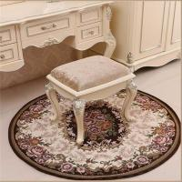 China Brown Jacquard Chair Floor Mats Round Shape High Wear Resistance on sale