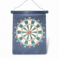 China 17-inch Rubber Magnetic Dartboard, Nontoxic/Eco-friendly, Suitable for Promotional Gifts on sale