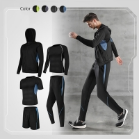 Wholesale Fitness Men Cotton Polyester Running Wear Sports Training Suit from china suppliers