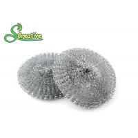Wholesale Galvanized Steel Wire Mesh Scouring Pad , Metal Dishwasher Scrubber 12g/ Pcs from china suppliers