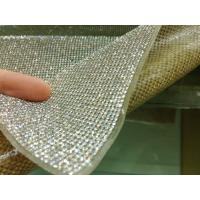 Wholesale Hot Fix Adhesive Diamond Sheet, Iron-On Crystal Diamond Mesh Ribbon 24x40cm/sheet from china suppliers