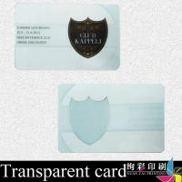 Wholesale Hot Stamping Transparent PVC Card Printing / Bank Credit Card from china suppliers