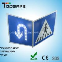 Quality 3m Reflector Pedestrian and U-Turn Sign Solar LED Traffic Road Signs for sale