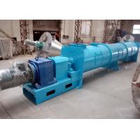 Environment Protection Continuous Ribbon Blender For Sludge / Waste Treatment