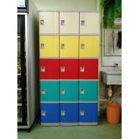 Wholesale Swimming Pool Plastic School Lockers 5 Tier Red / Yellow / Bule Door For Storage from china suppliers