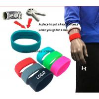 Wholesale 2015 new Pocket Wrist band silicone bracelet with pocket for Sport from china suppliers
