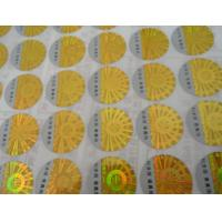 Wholesale Custom printed 2D 3D gold siver round oval rectangular hologram anti-counterfeit certificate label stickers from china suppliers