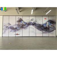 Wholesale Decorative Landscape Painting Movable Wooden Acoustic Fabric Panels Divider from china suppliers