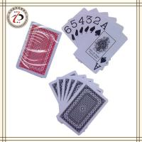Wholesale CUSTOM WASHABLE 100% PLASTIC POKER CARDS from china suppliers