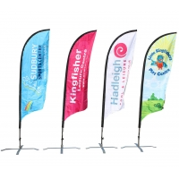 Quality outdoor advertising Beach flag for sale