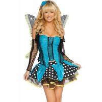 Wholesale Blue Garden Butterfly  Halloween Adult Costumes Customized For Carnival Dance from china suppliers