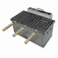 China Stainless Steel Charcoal Grill with Computerized Timer and Turning Motor on sale