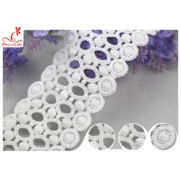 China Circle Embroidery Water Soluble Lace With 100% Cotton / Ladder Lace Trim on sale